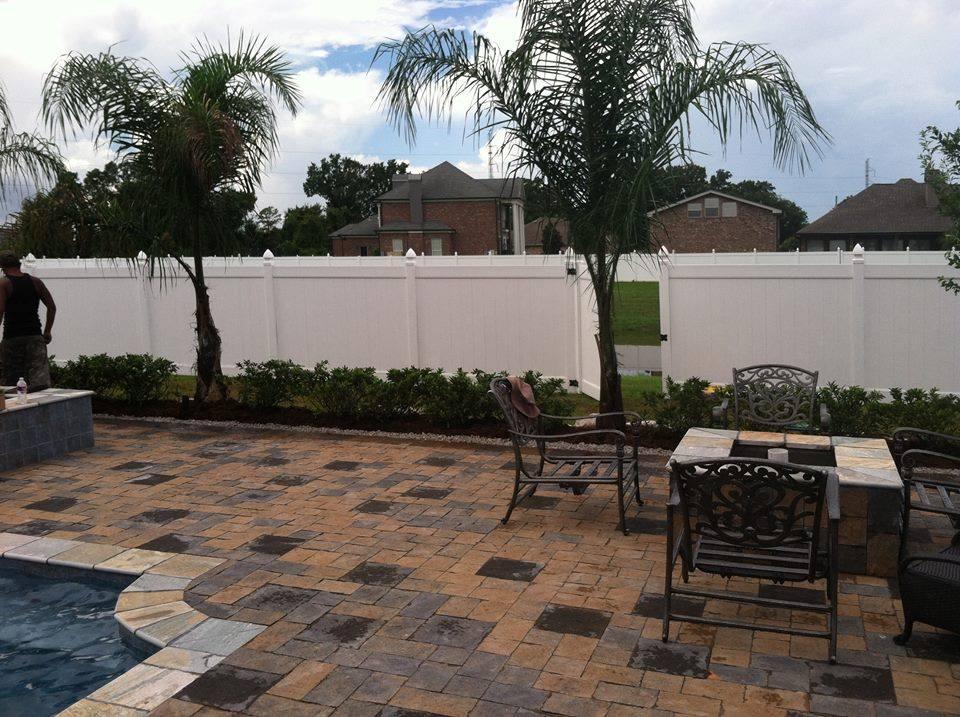 Paver patio pool deck